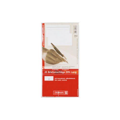 Briefumschläge DIN lang, blanko, selbstklebend, 25 Stk.