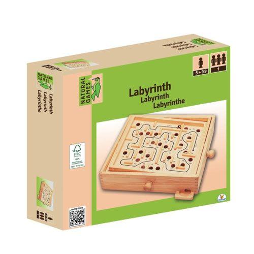 Natural Games - Holz Labyrinth, 30 x 25,5 cm