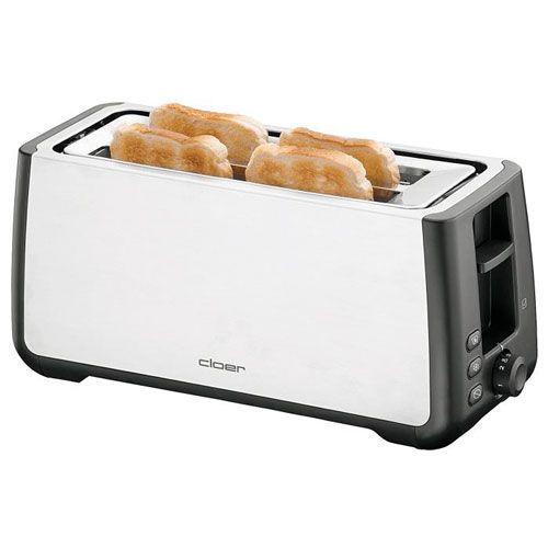 Toaster, schwarz , für 4-XXL-Scheiben, 1500 - 1800 Watt