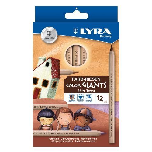 Lyra Farbriesen Skin Tones, 12er Sortiment