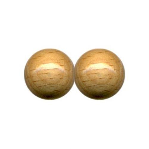 Holzperlen, Ø 14 mm, 20 Stück
