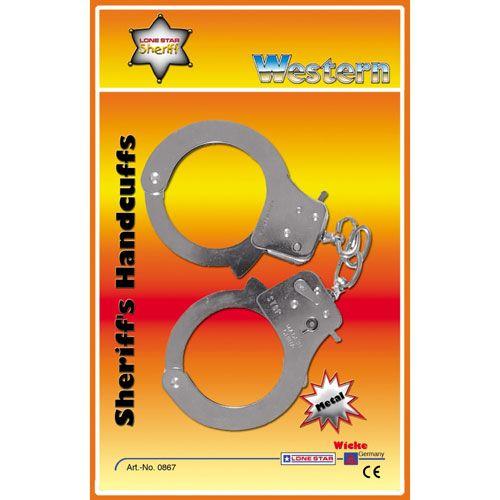 Handschellen mit Schlüssel auf Blister