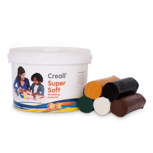 Creall Supersoft Knete Safari, 1750 g