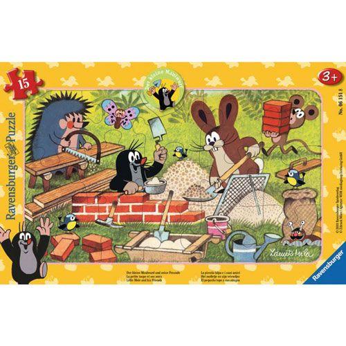 Puzzle: Der Maulwurf und seine Freunde, 15 Teile