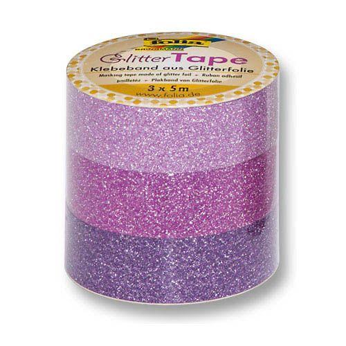 Glitter Tape, rosa, pink, lila, 15 mm x 5 m