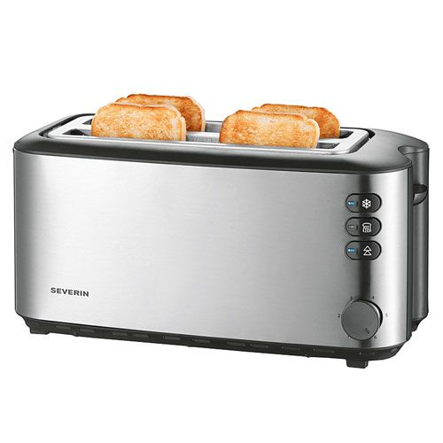 Toaster, Edelstahl, 1400 Watt, schwarz