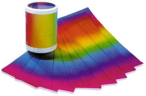 Regenbogen -Transparentpapier Zuschnitte, 20,5 x 51 cm