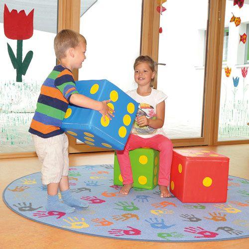 Soft Würfel, 30 x 30 x 30 cm, Einzelfarben nach Wahl