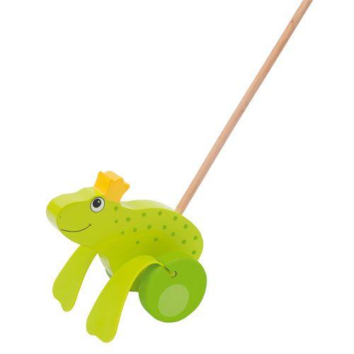 Schiebetier Froschkönig mit Watschelschlappen, 19 cm