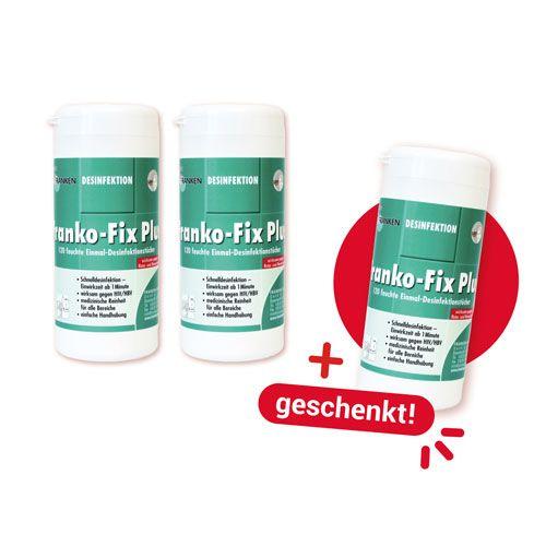 Gratis für Sie: Franko-Fix Plus 2+1 Dose geschenkt: 120 kleine Tücher