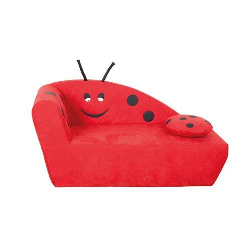 Kindersofa mini Marienkäfer, SH 26 cm
