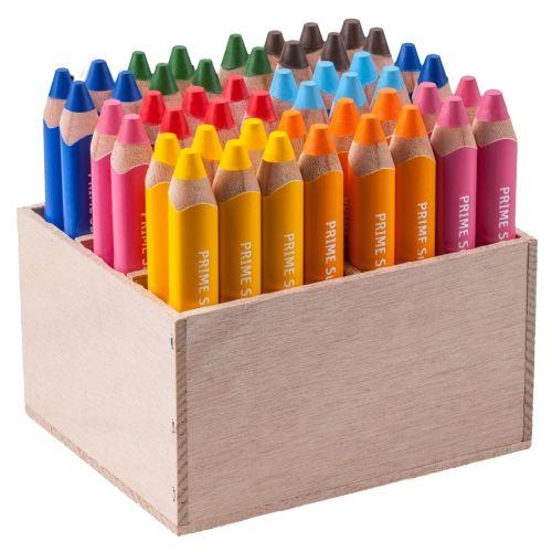 edu³ Prime Super Jumbo Dreikantgriff, Holzaufsteller mit 48 Stiften