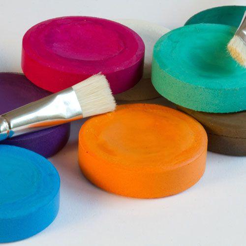 Tempera-Blöcke, Ø 55mm, 19 Farben, großes Sortiment