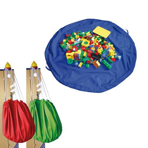 Aufräumsack & Spieldecke, Ø 135 cm, Einzelfarben nach Wahl