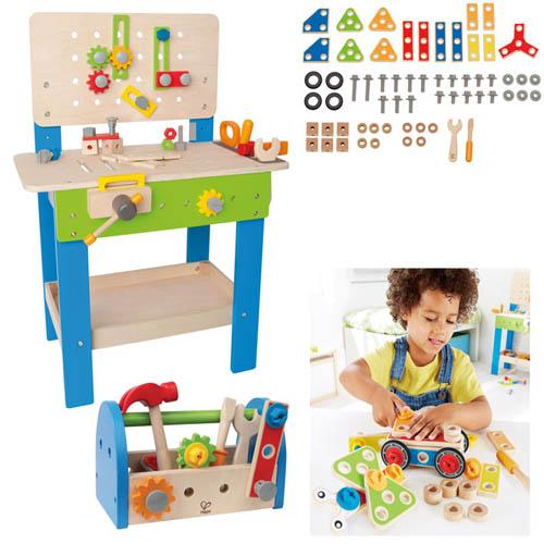 Hape Multi Service Set Kinder Werkbank Werkzeugkasten Bauset