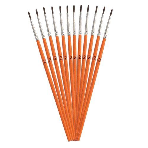 Haarpinsel, 12 Stk., Gr.2