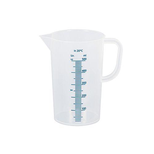 Messbecher, 0,5 l, Ø 9 cm, H 13 cm, transparent
